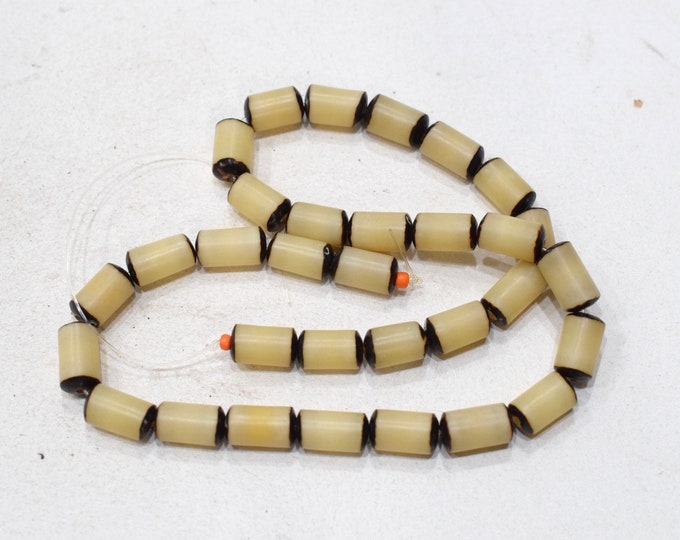 Featured listing image: Beads India Natural Oval Buri Nut Beads 12-14mm
