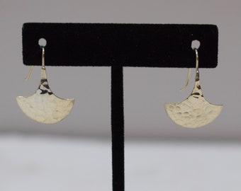 Earrings Sterling Silver Hammered Anchor Dangle Earrings 28mm