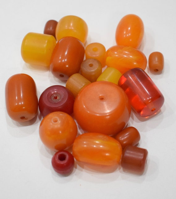 Beads Amber Assorted Yellow Red Amber Copal Vintage Beads 12mm - 30mm