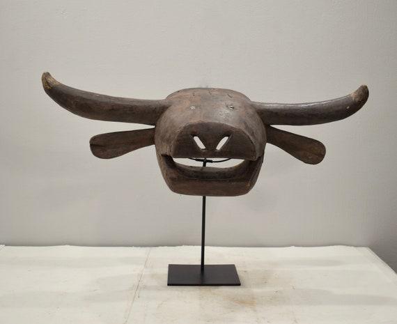African Mask Bush Cow Tabwa Tribe Congo