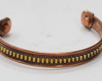 Bracelet Copper Woven Cuff Healing Bracelet