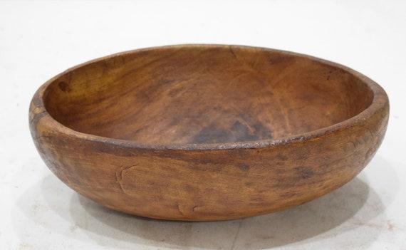"African Bowl Pokot Food Wood Bowl Kenya 4 1/4"""