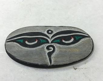 Tibetan Buddist Hand Carved Mani Stone