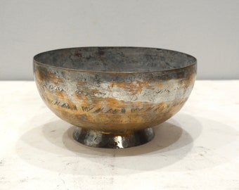 Middle Eastern Brass Etched Desgin Brass Bowl