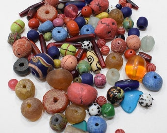 Beads Assorted Bag African India Horn Glass Beads 10-34mm