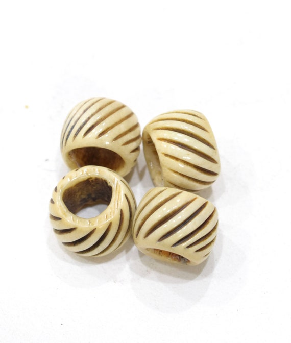 Beads Indonesian Ridged Bone Rings 24-26mm