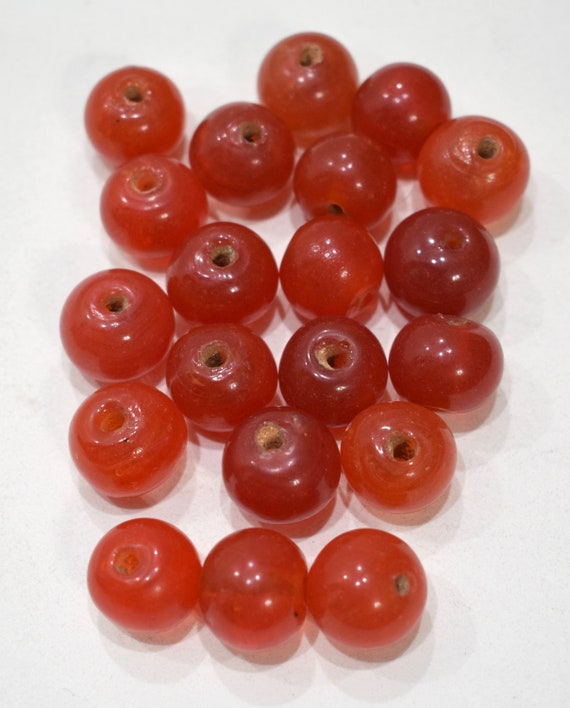 Beads Chinese Red Peking Glass Beads 16mm