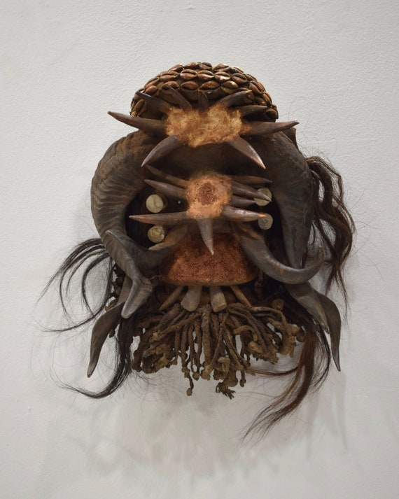 Mask African Guere Cote d'Ivorie Ritual Guere Mask