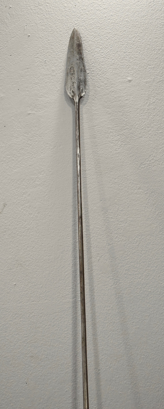 """African Spear Old Iron Forged Spear Pokot Kenya 79"""""""