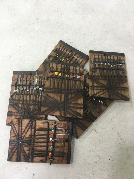 """African Piano Wood Small Thumb Piano Handmade  Handcarved Wood """"Kalimba"""" Musical Piano Tines Thumbs Fun Gift for Her Gift for Him Tunes"""
