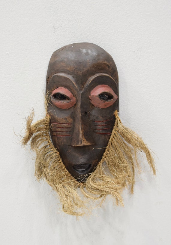 African Mask Lega Bearded Passport Wood Mask DRC