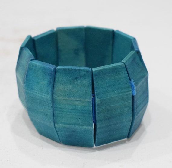 Bracelets Wood Painted Blue Panel Philippines Bracelet