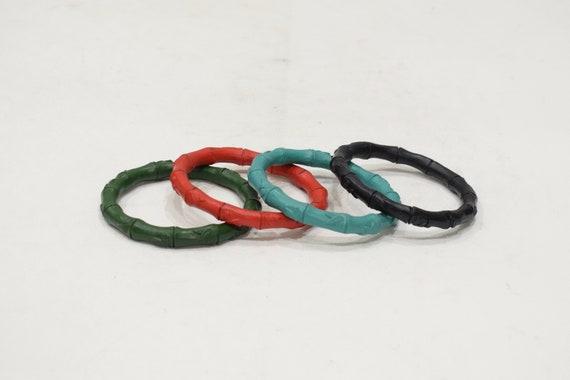 Bracelet Chinese Cinnabar Bamboo Design Bracelet