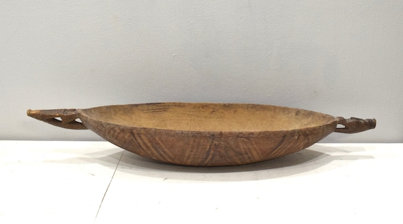 Papua New Guinea Bowl Alligator Handle Ramu River Wood Bowl