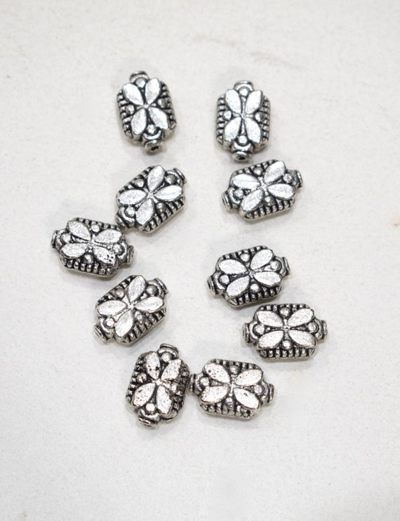 Beads Chinese Silver Butterfly Beads 16mm