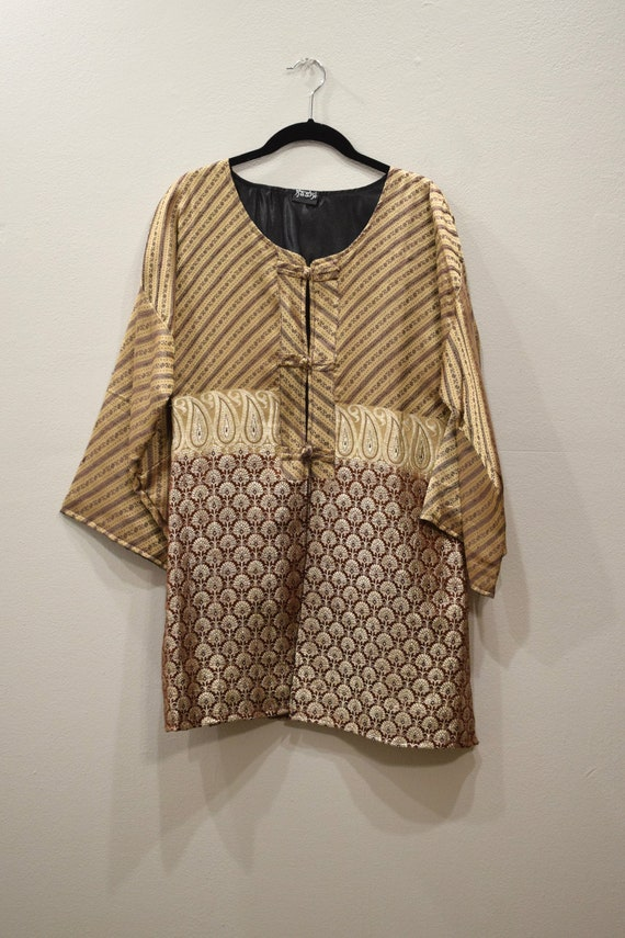 Jacket Silk Beige Brocade Jacket