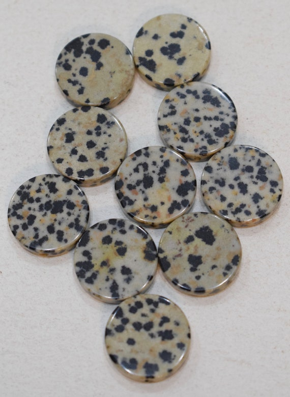Beads Stone Black White Spotted Stone Round Beads 18mm