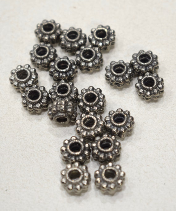 Beads Nepal Ornate Silver Beads 10mm