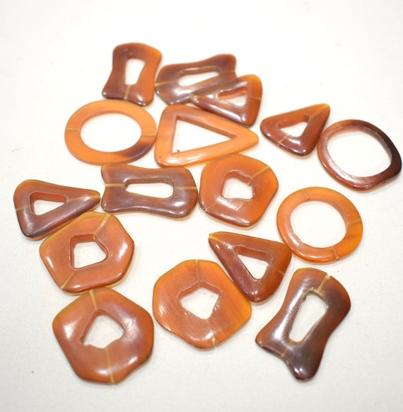 Beads Philippine Mixed Bag Brown Horn Beads 35-48
