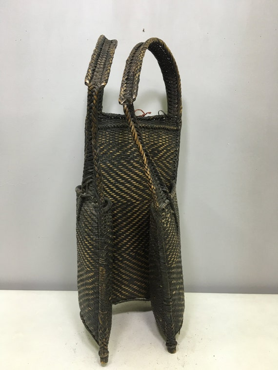 Backpack Laos Rattan Woven Handmade Hand Woven Hunting Food Backpack Gift for Her Gift for Him Home Decor