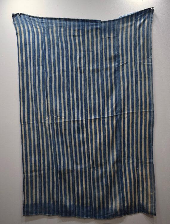 African Indigo Blue Handmade Design Ceremonial Indigo Cloth