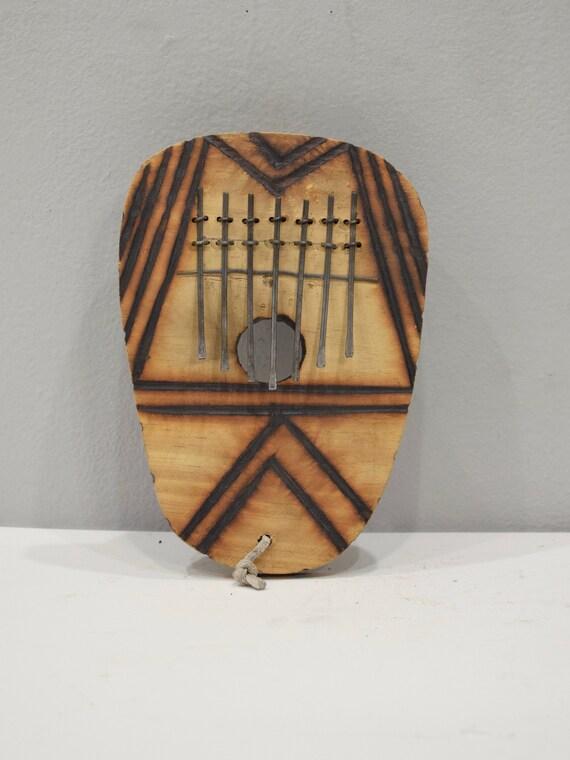 "Piano African Piano Wood Burnished Thumb Piano ""Kalimba"" Musical Piano"