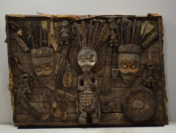 African Mambila Tribe Ancestor Shrine Cameroon