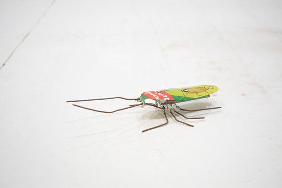 African Folk Art Toy Cockroach Recycled Tin Can Cockroach Tanzania Toy Cockroach