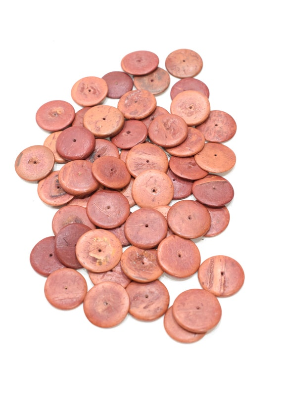 Beads Philippines Rust Coconut Disc 18-20mm