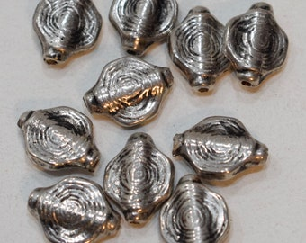 Beads Silver Coil Vintage Beads 18mm