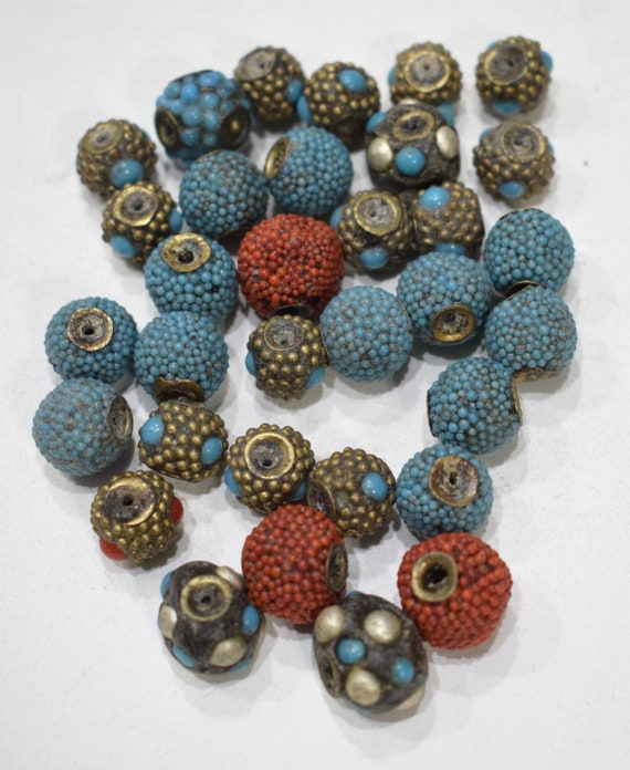 Beads Assorted India Nepal Beaded Beads 12-15mm