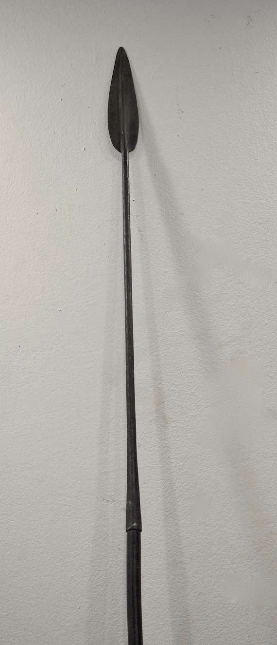 """African Spear Old Iron Forged Spear Pokot Kenya 88"""""""