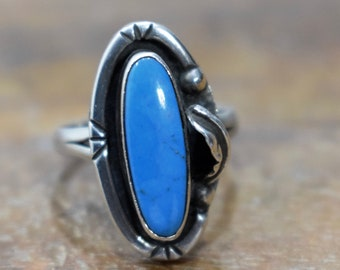 Ring Sterling Silver Turquoise  Stone Ring