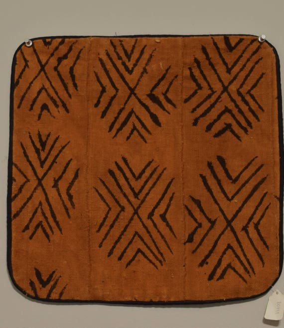 African Mudcloth Pillowcase Brown Black Mali Handmade Fabric Handpainted River Mud Textile Brown Mudcloth Pillowcase
