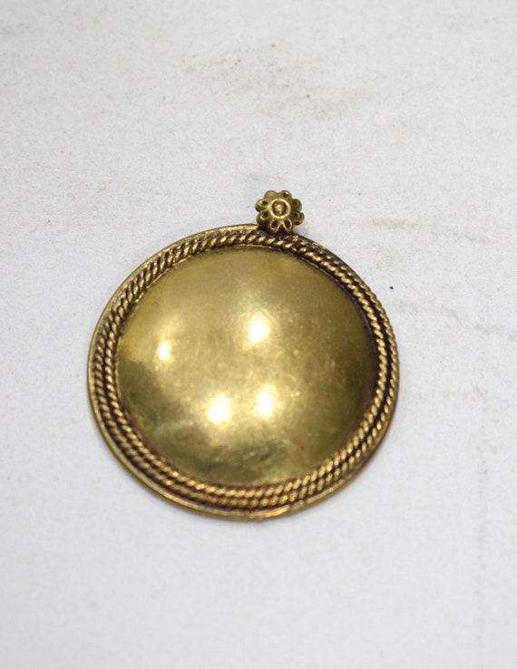 Beads India Brass Large Pendant 42mm