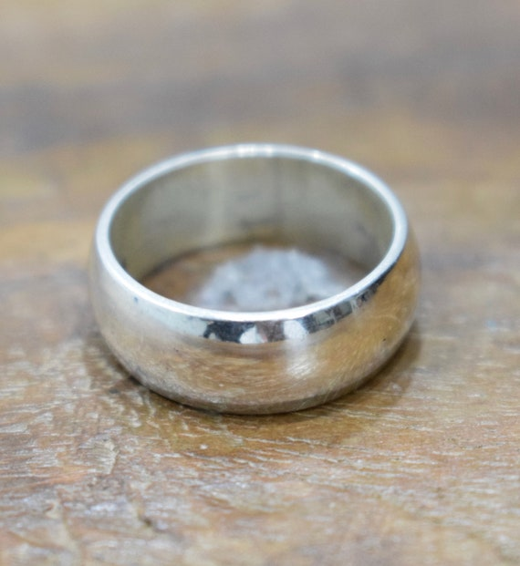 Ring Sterling Silver Shiny Band Ring