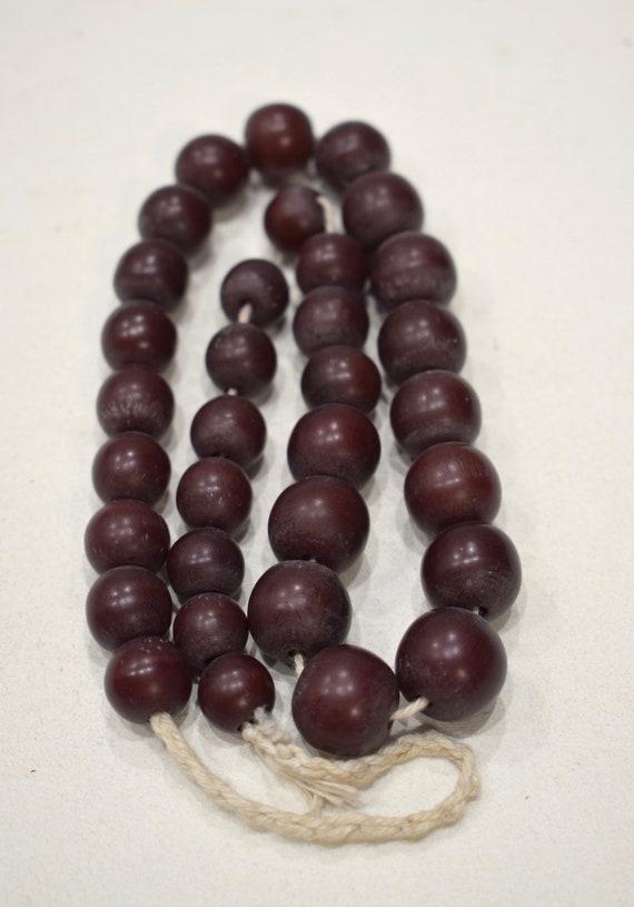 Beads India Brown Buri Nut Beads 12-15mm