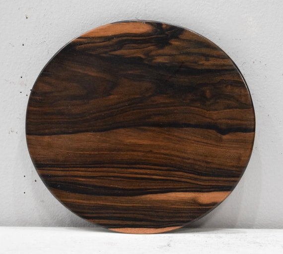 """Wood Plates Kamagong Wood 8"""" Carved Plates Philippines"""