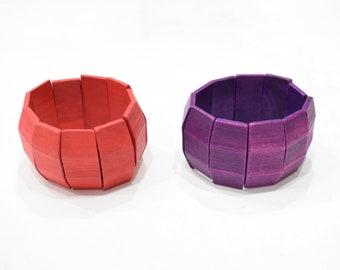 Bracelet Red Purple Indonesian Stretch Bracelets