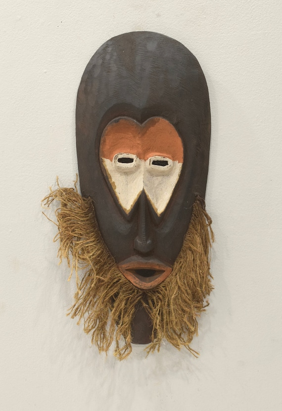 African Mask Malindi Warega Zaire Cows Teeth Malindi Mask