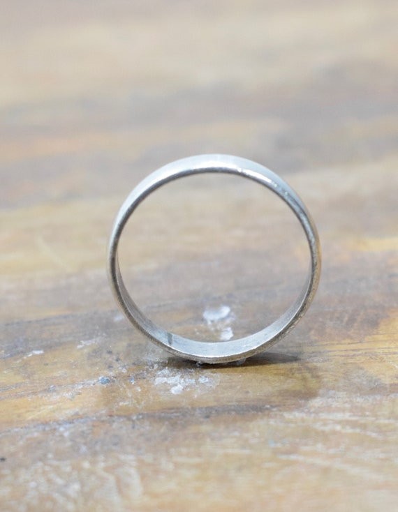 Ring Sterling Silver Wedding Band Ring