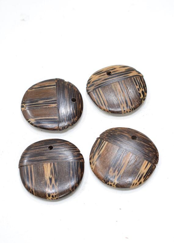 Beads Philippines Inlay Wood Pendant Beads 40mm