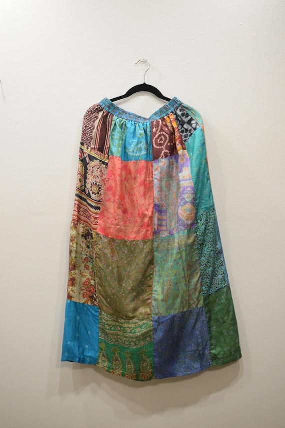 Skirt India Patchwork Silk Skirt