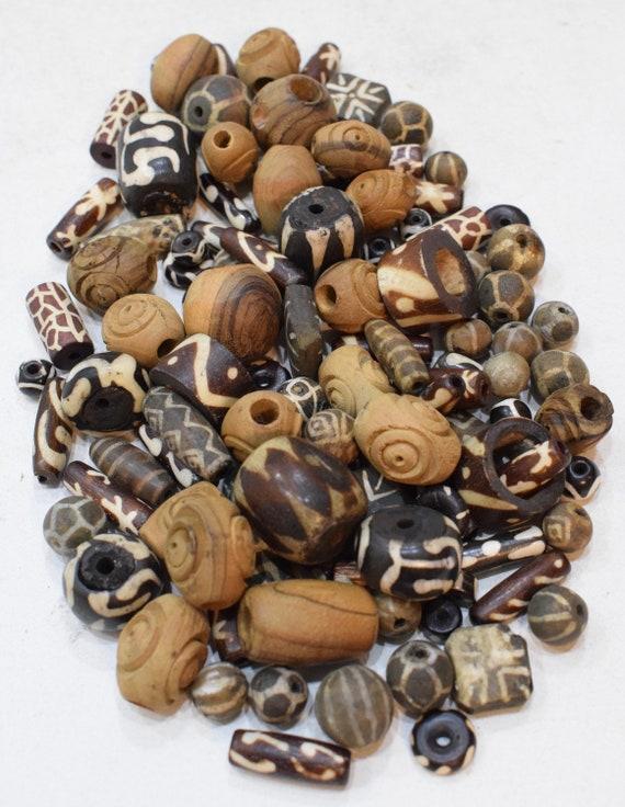 Beads Assorted Bone Wood Ceramic Beads 10 -25mm