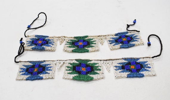 African Zulu Beaded Pair Anklets South Africa Beaded Zulu Anklets