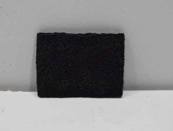 Purse Beaded Black Small Clutch Purse
