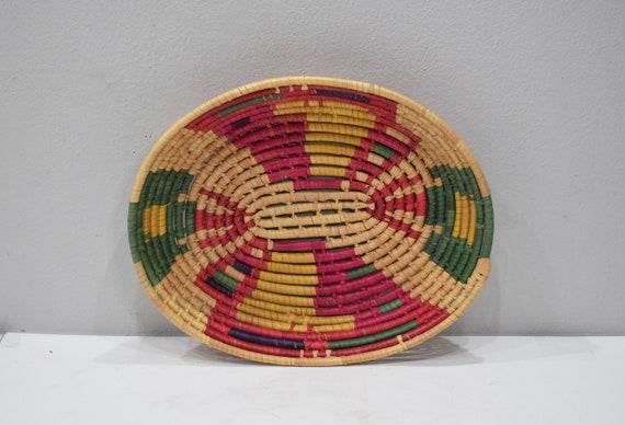 Basket Ethiopian Woven Oval Basket