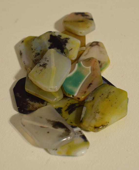 Beads Polished Picture Jasper Assorted Pendants Beads Necklaces Jewelry Jasper Beads