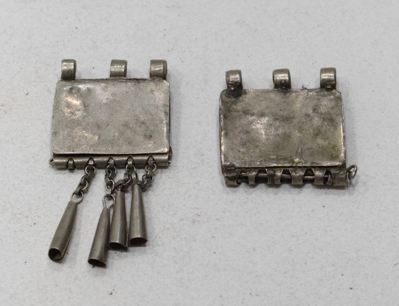 Beads Silver Ethiopian Telsum Box Pendants 28mm 30mm
