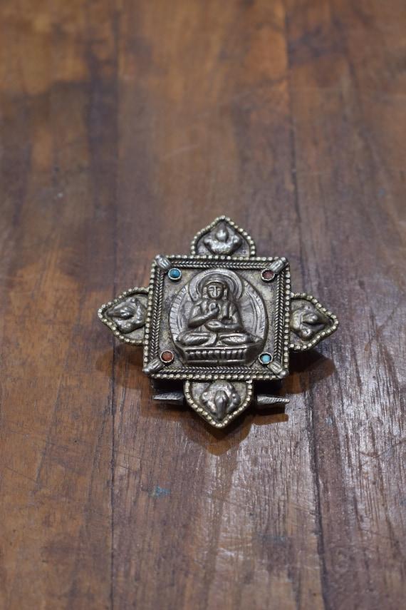 Pendant Buddha Silver Prayer Box Pendant